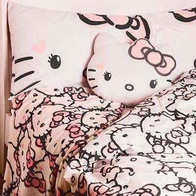 HELLO KITTY Duvet Cover Set Primark SINGLE DOUBLE CUSHION Throw Blanket Primark