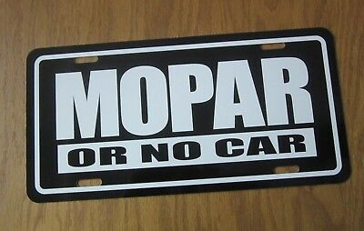 MOPAR or No Car license plate B TAG PLYMOUTH GTX ROAD RUNNER DODGE CHARGER DART