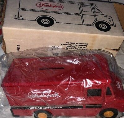 Ertl Freihofer's Step Van Bank W Box Rare #9710 Die-Cast!