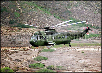 USN Sikorsky H-3 Sea King HC-9 Protectors 1983 5x7 Helicopter Plane Photo