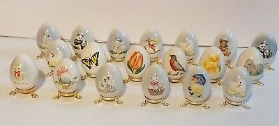 GOEBEL COLLECTION of 19 ANNUAL EGGS 1981 TO 2007 MADE GERMAN NEW MINT & BOXED