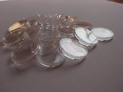 10x Clear Plastic Coin Display Cases Capsules Holder Storage Box 36mm Schulz