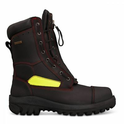 Oliver Black 230mm Lace-up Structural Firefighters Boot US10