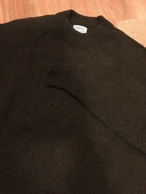 Vintage 1960's Montgomery Ward Brent Mens Sweater Cool Style Mens Brown