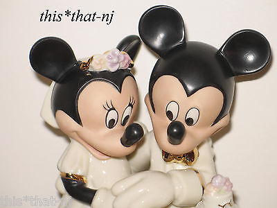 Lenox Disney Minnie's Dream Wedding Cake Topper Mickey & Minnie Mouse Figurine