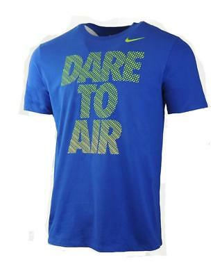 New Men's Nike Cotton Royal Blue Dare To Air Basketball Tee 30% Off of MSRP Lrg