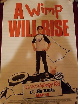 """Diary of a Wimpy Kid The Long Haul """"B"""" POSTER 27x40 Original D/S Movie Poster"""