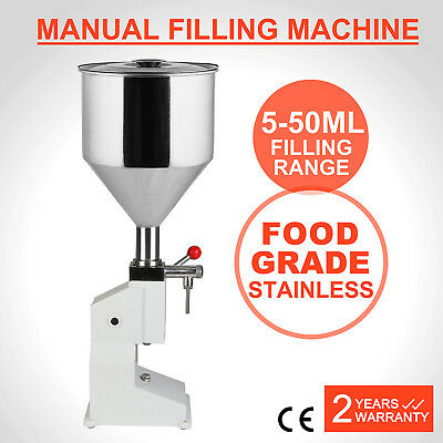 5-50ML Manual Liquid Filling Machine Filler A03 Shampoo Cream Stainless Steel