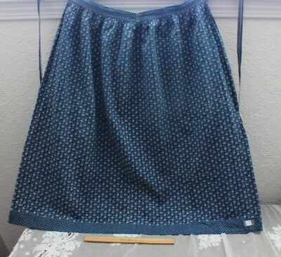 Antique French c1850 French Resist Printed Cotton Indigo Work Chore Apron