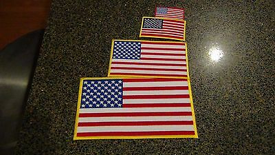 Embroidered American flag patches Choose small medium large USA iron on