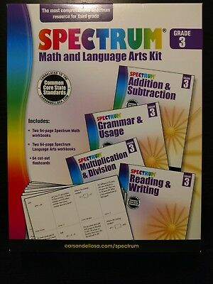 New Spectrum Common Core Grade 3 Language Arts Math Book Get It Fast