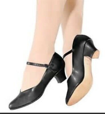So Danca Girls Character Shoes - Black Size 4