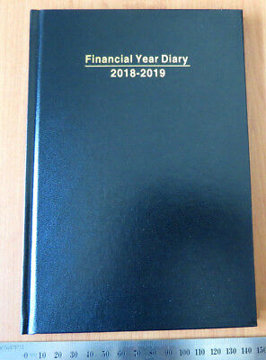 Diary FINANCIAL YEAR 2018/19 A5 Week To View Hardcover Black