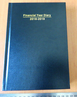 Diary FINANCIAL YEAR 2018/19 A5 Day To Page Hardcover Black