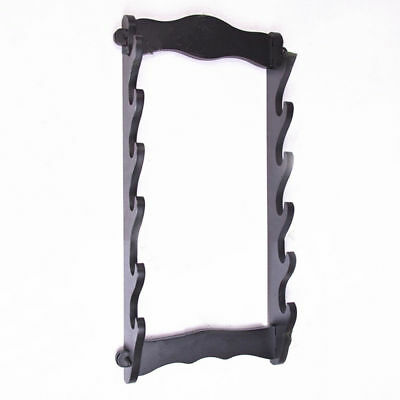 6 Layer Long Wall Mount Bracket Katana Samurai Sword Stand Hanger