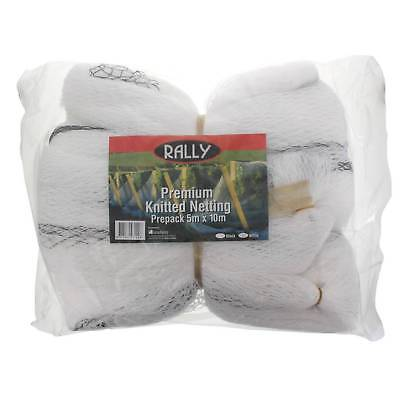 Anti-Bird Netting 5m x 10m White Rally Strong Fully UV Stabilised 15mm Spacing