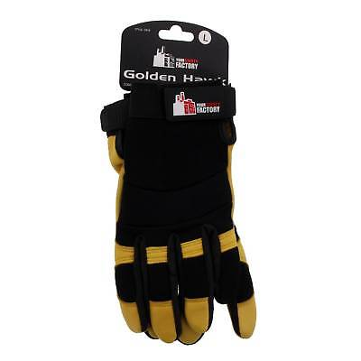 Golden Hawk Gloves Large Ryset Premium Deer Grain Riggers Gloves Soft Supple