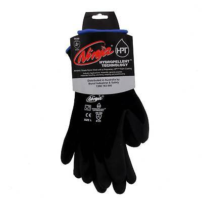 Ninja Glove P4001 Large Seamless 15 Gauge Nylon Shell Feather Light Safety