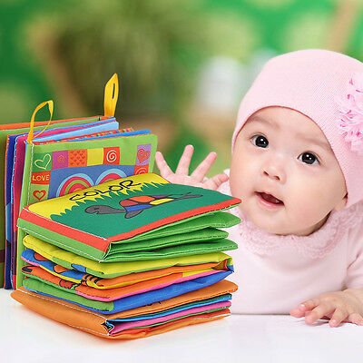 KIDS BABY Intelligence development Cloth Bed Cognize Book Educational Toy HOT