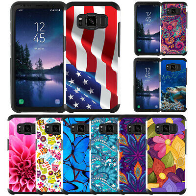 Slim Hybrid Armor Case Dual Layer Protective Cover for Samsung Galaxy S8 Active
