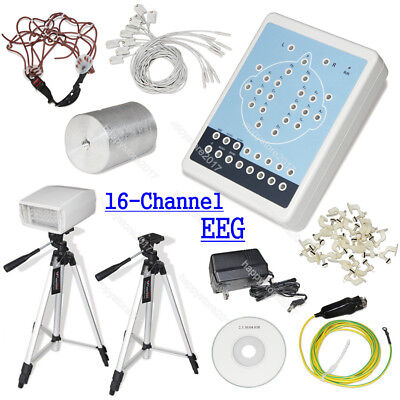 CE CONTEC KT88-1016 Digital 16-Channel EEG Machine and Mapping System+2 Tripods