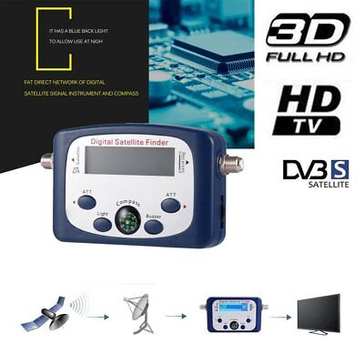 Digital Satellite Signal Finder Meter Buzzer LCD FTA Dish With Compass WN