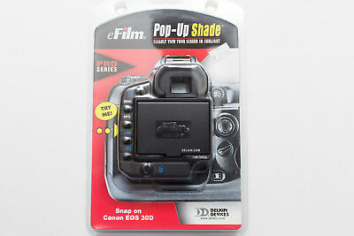 New Delkin Canon Eos 30D Pro Series Lcd Screen Pop Up Screen Protector Sun Shade