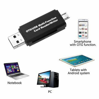 Micro USB OTG to USB 2.0 Adapter SD Card Reader For Android Phone Tablet PC WN