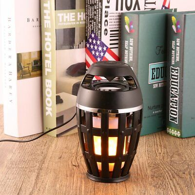 96 LED Flame Atmosphere Lamp Wireless Bluetooth4.2 Speaker Portable Stereo WN