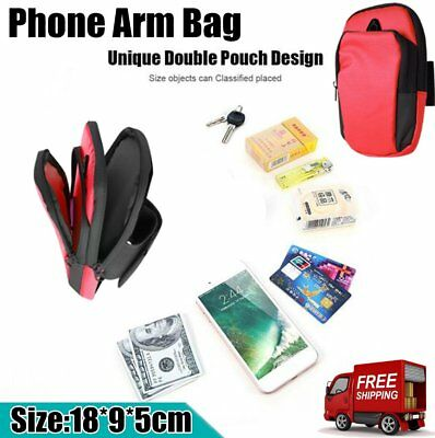 Sports Running Jogging Gym Armband Arm Band Holder Bag For Mobile Phones LOT WN