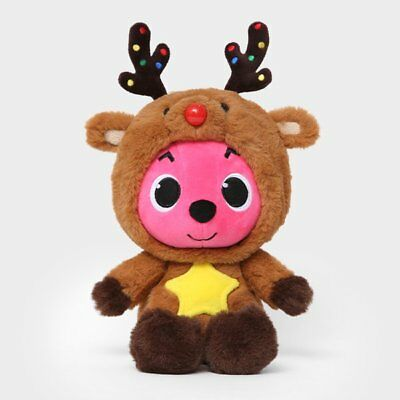 "PINKFONG RUDOLF Plush Doll Christmas Edition 30cm 12"" Stuffed Toy 3Y+ Best Gift"
