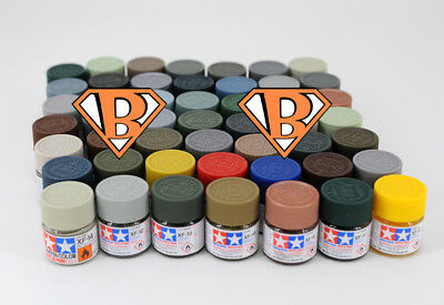 Tamiya Model Color Acrylic Paint 10ml XF-1 - XF-87 81701 - 81787 Flat series