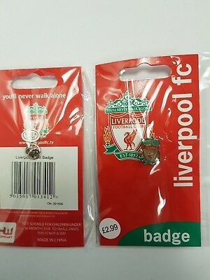 Liverpool FC Official Football Liverbird Crest Pin Badge