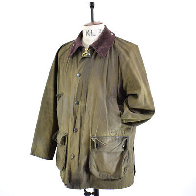 Men's BARBOUR BEDALE Olive Green WAXED COTTON Outdoor Farmer Shooting Jacket 42