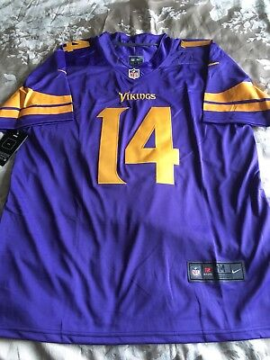 huge discount e39c0 de0f1 NEW 2017/18 STEFON Diggs Color Rush Minnesota Vikings NFL Jersey M
