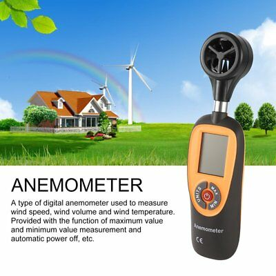 HT-91 Digital Anemometer Tester Wind Speed Velocity  Measure Thermometer NI
