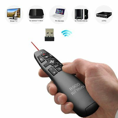RII R900 RT-MWK14 2.4GHz Mini Wireless Air Mouse Presenter Red Laser Pointer NI