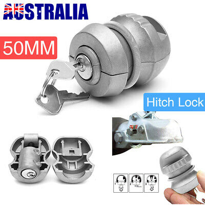 Trailer Parts Coupling Hitch Ball Lock Universal Tow Caravan Anti Theft Device U