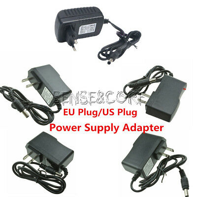 EU/US Plug AC 100-240V to DC 12V 9V 5V 1A 2A Power Supply Converter LED Light SC