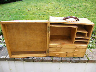 Vintage Collectors Watch Makers Tool Cabinet Box Chest