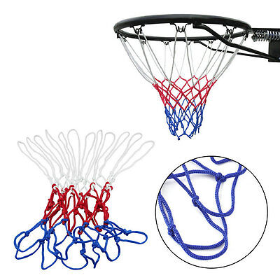 New Red White Blue Basketball Net Nylon Hoop Goal Rim Mesh Net Sports hot NI