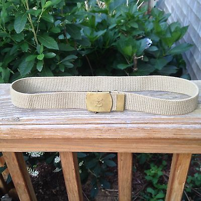 """Vintage 1950's BSA Boy Scouts of America 30"""" Belt With Solid Brass Buckle"""