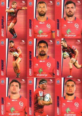 2017 Tap N Play Rugby Union - Queensland Reds 22 card base team set