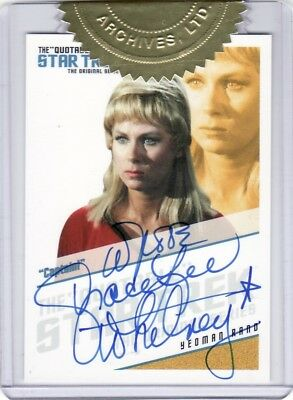 Star Trek ToS 40th Ann. Grace Lee Whitney as Yeoman Rand QA8 Auto Card