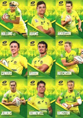 2017 Tap N Play Rugby Union - Wallabies Sevens 20 card base team set