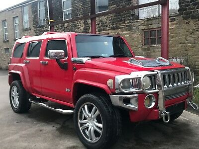 2007 Hummer H3 Lhd 3.5 Auto Left Hand Drive Modified Chrome Wheels Fresh Import