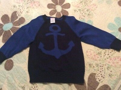 Gymboree Toddler Boys Anchor Sweater Size 2T