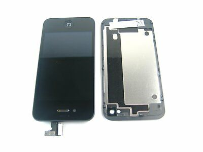 Black~Touch Digitizer & Back Cover & LCD Display+Home Button for IPhone 4