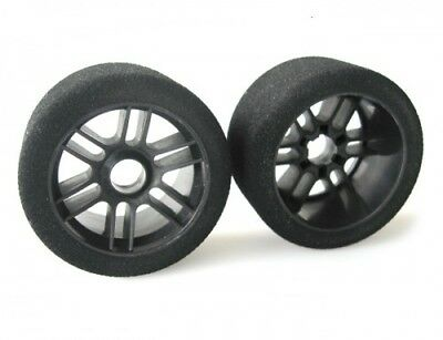 """2 Xceed RC /""""Enneti/"""" 1//8 Carbon On Road Rear Tires 35 Shore Carbon Black"""