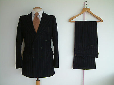 """1970's FLARED SUIT..38"""" x 32""""..PEAKED..DOUBLE BREASTED..PTU's..JAGGER..SEXTON"""